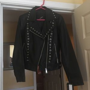 Collection b New York faux leather Grommet jacket
